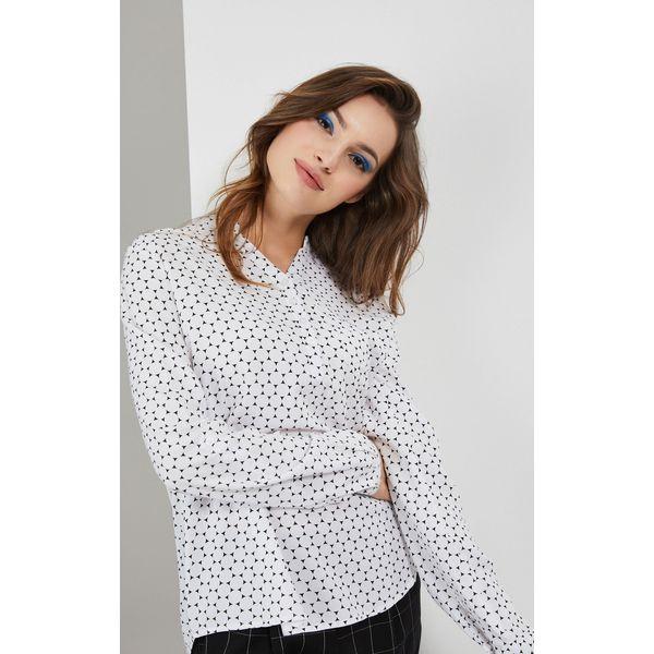 Koszula z nadrukiem Białe koszule damskie MOODO, xs, bez
