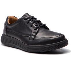 Półbuty CLARKS - Un Abode Ease 261369847 Black Leather. Czarne półbuty na co dzień męskie Clarks, z materiału. W wyprzedaży za 319.00 zł.