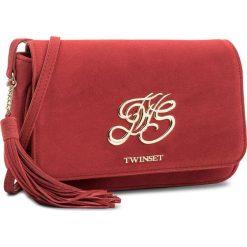 Torebka TWINSET - Tracolla OS8TEA Rubino 00045. Czerwone listonoszki damskie Twinset, ze skóry. W wyprzedaży za 529.00 zł.