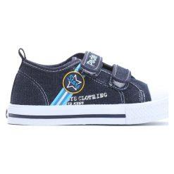 Granatowe Trampki Loving Stars. Niebieskie buty sportowe chłopięce Born2be, z materiału. Za 39.99 zł.