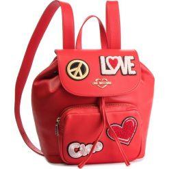 Plecak LOVE MOSCHINO - JC4082PP17LJ0500 Rosso. Czerwone plecaki damskie Love Moschino, ze skóry ekologicznej. Za 959.00 zł.