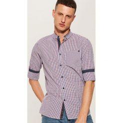 Koszula slim fit z kieszonką - Wielobarwn. Szare koszule męskie House. Za 79.99 zł.