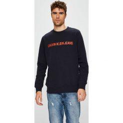 Calvin Klein Jeans - Bluza. Czarne bluzy męskie Calvin Klein Jeans, z nadrukiem, z bawełny. Za 359.90 zł.