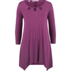 Tunika shirtowa, rękawy 3/4 bonprix fiołkowy. Fioletowe tuniki damskie bonprix. Za 89.99 zł.