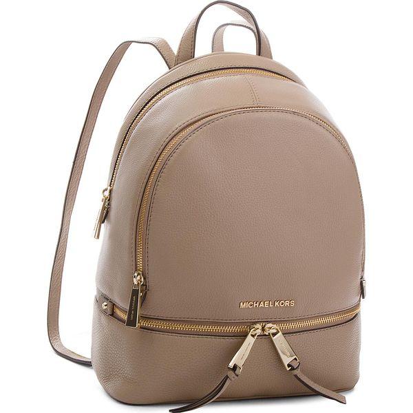 6873d6c9cb9ef Plecak MICHAEL KORS - Rhea Zip 30T8TEZB2L Truffle - Brązowe plecaki ...