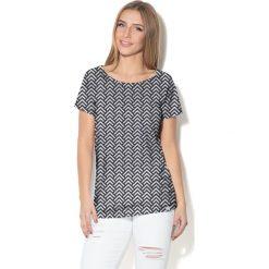Colour Pleasure Koszulka CP-034  169 czarno-biała r. M/L. Bluzki damskie Colour Pleasure. Za 70.35 zł.