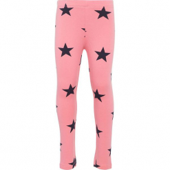 """Legginsy """"Davina"""" w kolorze różowym. Czerwone legginsy dla dziewczynek Name it Baby, z bawełny. W wyprzedaży za 39.95 zł."""