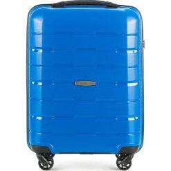 Walizka kabinowa 56-3T-721-95. Niebieskie walizki damskie Wittchen, z gumy. Za 199.00 zł.
