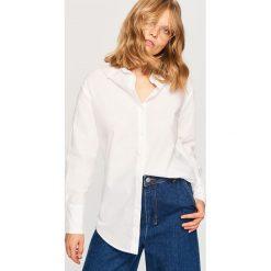 Koszula z bawełny organicznej - Biały. Białe koszule damskie Reserved, z bawełny. Za 99.99 zł.