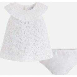 Mayoral - Sukienka dziecięca + majtki 65-80 cm. Bielizna dla chłopców Mayoral, z bawełny, eleganckie, z krótkim rękawem. Za 144.90 zł.