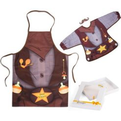 Baby Sheriff - śliniak i fartuch. Brązowe śliniaki dla dzieci Baby Gadgets. Za 68.10 zł.