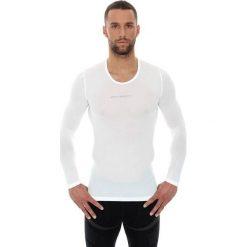 Brubeck Koszulka unisex z długim rękawem biała r. XL (LS10850). Koszulki sportowe męskie Brubeck, z długim rękawem. Za 94.99 zł.