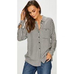 Review - Koszula. Szare koszule damskie Review, w paski, z tkaniny, casualowe, z klasycznym kołnierzykiem, z długim rękawem. Za 149.90 zł.
