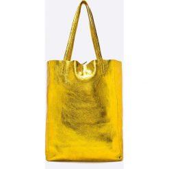 Answear - Torebka skórzana Violet Kiss. Pomarańczowe torebki shopper damskie ANSWEAR, z materiału. W wyprzedaży za 169.90 zł.