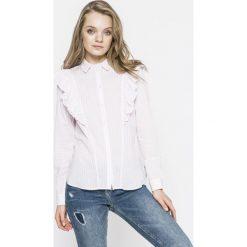 Noisy May - Koszula. Szare koszule damskie Noisy may, w paski, z bawełny, casualowe, z klasycznym kołnierzykiem, z długim rękawem. W wyprzedaży za 69.90 zł.