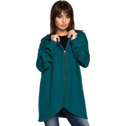 Zielona Bluza Asymetryczna z Kapturem. Zielone bluzy damskie Molly.pl, z bawełny. Za 149.90 zł.