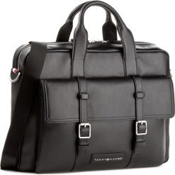 Torba na laptopa TOMMY HILFIGER - Th City Computer Bag AM0AM02944 002. Czarne torby na laptopa damskie Tommy Hilfiger, ze skóry ekologicznej. W wyprzedaży za 399.00 zł.