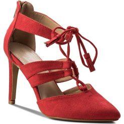 Szpilki JENNY FAIRY - WYL1300-3 Czerwony. Czerwone szpilki damskie Jenny Fairy, z materiału. W wyprzedaży za 99.99 zł.