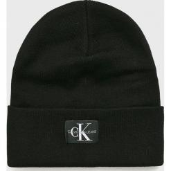 Calvin Klein Jeans - Czapka. Czarne czapki i kapelusze damskie Calvin Klein Jeans, z bawełny. Za 179.90 zł.