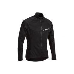 Koszulka długi rękaw na rower ROADCYCLING 500 męska. Czarne koszulki sportowe męskie B'TWIN, na jesień, z elastanu, z długim rękawem. Za 79.99 zł.