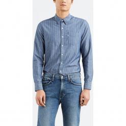 """Koszula """"Sunset"""" w kolorze niebieskim. Niebieskie koszule męskie Levi's, w paski, z bawełny, z klasycznym kołnierzykiem. W wyprzedaży za 152.95 zł."""