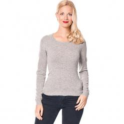 Sweter w kolorze szarym. Szare swetry damskie Assuili, z kaszmiru, z okrągłym kołnierzem. W wyprzedaży za 136.95 zł.
