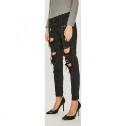 Guess Jeans - Jeansy Marylin 3 Zip. Czarne jeansy damskie Guess Jeans. Za 639.90 zł.