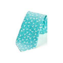 Krawat męski FLAMINGI granat. Niebieskie krawaty i muchy Hisoutfit, z materiału. Za 129.00 zł.