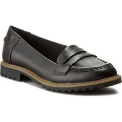 Półbuty CLARKS - Griffin Milly 261011014 Black Leather. Czarne półbuty damskie Clarks, z materiału. W wyprzedaży za 169.00 zł.