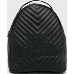 Love Moschino - Plecak. Czarne plecaki damskie Love Moschino, z materiału. Za 949.90 zł.