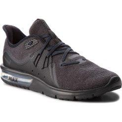 Buty NIKE - Air Max Sequent 3 921694 010 Black/Anthracite. Czarne buty sportowe męskie Nike, z materiału. W wyprzedaży za 299.00 zł.
