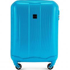 Walizka kabinowa 56-3A-371-77. Niebieskie walizki damskie Wittchen, z gumy. Za 159.00 zł.