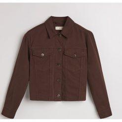 Jeansowa kurtka - Brązowy. Brązowe kurtki damskie Reserved, z jeansu. Za 139.99 zł.