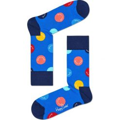 Happy Socks - Skarpety Smile. Niebieskie skarpety męskie Happy Socks, z bawełny. W wyprzedaży za 27.90 zł.