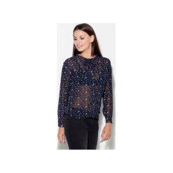 Koszula K135 Granat. Niebieskie koszule damskie Katrus, biznesowe, z kokardą, z długim rękawem. Za 109.00 zł.