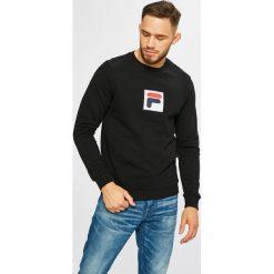 Fila - Bluza. Czarne bluzy męskie Fila, z aplikacjami, z bawełny. Za 299.90 zł.