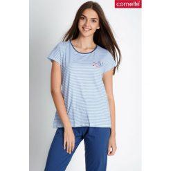 Niebieska piżama w marynarskie paski QUIOSQUE. Paski damskie marki bonprix. W wyprzedaży za 69.99 zł.