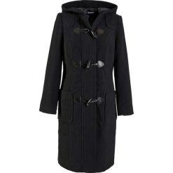 Płaszcz wełniany budrysówka bonprix czarny. Czarne płaszcze damskie bonprix, z wełny. Za 299.99 zł.