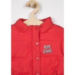 Pepe Jeans - Kurtka puchowa dziecięca Agnes 92-180 cm. Szare kurtki i płaszcze dla dziewczynek Pepe Jeans, z jeansu. W wyprzedaży za 319.90 zł.