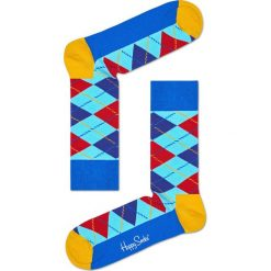 Happy Socks - Skarpety Argyle. Szare skarpety męskie Happy Socks, z bawełny. W wyprzedaży za 27.90 zł.