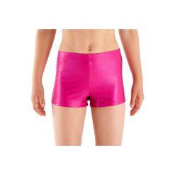 Legginsy fitness krótkie dla dzieci. Czerwone legginsy dla dziewczynek DOMYOS. W wyprzedaży za 9.99 zł.