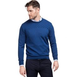 Sweter PIETRO SWN000074. Brązowe swetry przez głowę męskie Giacomo Conti, na jesień, z wełny. Za 299.00 zł.