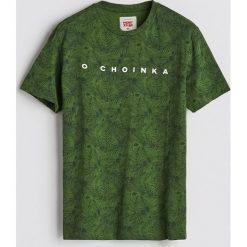 T-shirt ze świątecznym nadrukiem - Zielony. T-shirty męskie marki Giacomo Conti. Za 39.99 zł.