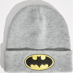 Czapka z naszywką Batman - Szary. Szare czapki i kapelusze damskie Sinsay. Za 19.99 zł.