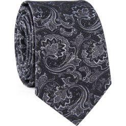 Krawat jedwabny KWSR000324. Szare krawaty i muchy Giacomo Conti, z jedwabiu, eleganckie. Za 129.00 zł.