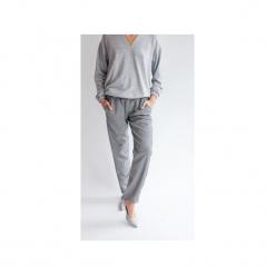 Spodnie LOOSE BLACK&WHITE pepitka. Białe spodnie materiałowe damskie True color by ann, z gumy. Za 299.00 zł.