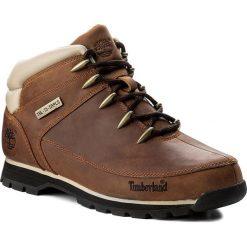 Trapery TIMBERLAND - Euro Sprint Hiker A121K/TB0A121K2141 Brown. Brązowe śniegowce i trapery męskie Timberland, z gumy. W wyprzedaży za 559.00 zł.