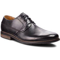 Półbuty CLARKS - Becken Plain 261231487 Black Leather. Czarne eleganckie półbuty Clarks, z materiału. W wyprzedaży za 219.00 zł.