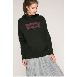 Levi's - Bluza. Brązowe bluzy damskie Levi's, z nadrukiem, z bawełny. W wyprzedaży za 169.90 zł.