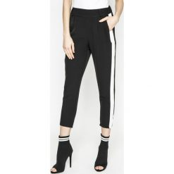 Answear - Spodnie Sporty Fusion. Szare spodnie materiałowe damskie ANSWEAR, z elastanu. W wyprzedaży za 69.90 zł.
